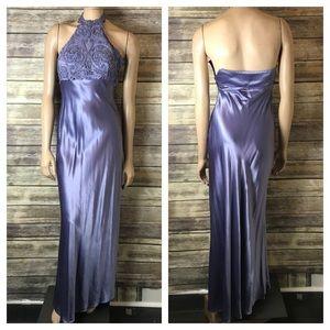 Zum Zum Prom Dress purple 3 4 halter beaded satin